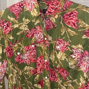 LUCKY BRAND FLOWER SHIRT XL